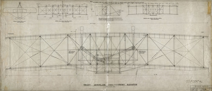 Front elevation of Wright 'Flyer', 1903.