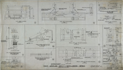 Miscellaneous details of Wright 'Flyer', 1903.