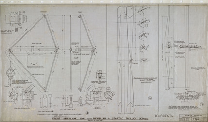 Propeller and starting trolley details of Wright 'Flyer', 1903.