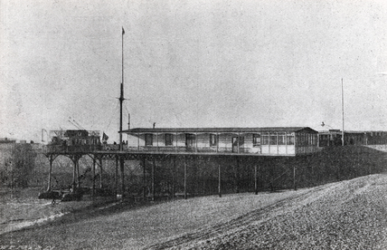 Volk's sea railway station, Brighton, East Sussex, 1896-1901.