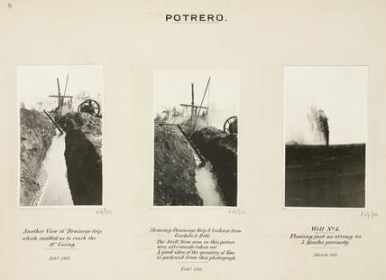 Oil wells at Potrero, Mexico, 15 March 1911.