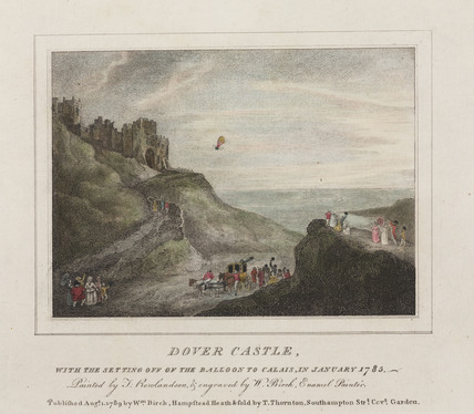 The first Channel crossing by balloon, 7 January 1785.