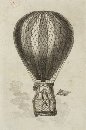 'Mr Lunardi in his Balloon', 1784.