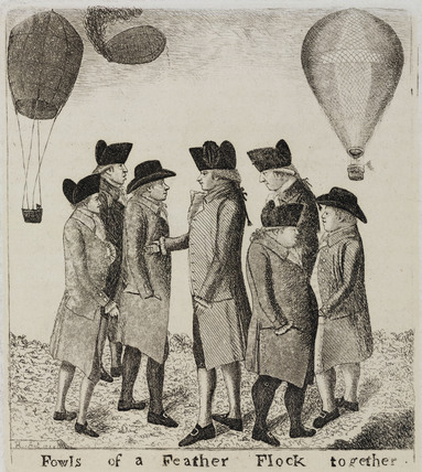 'Fowls of a Feather Flock Together', 1785.