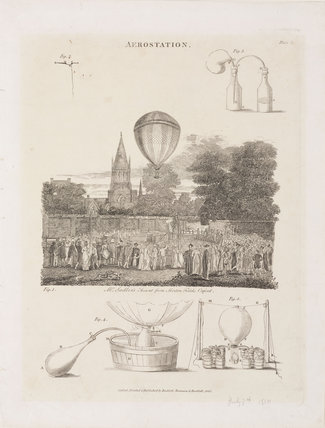 'Mr Sadler's Ascent from Merton Fields, Oxford', 7 July 1810.