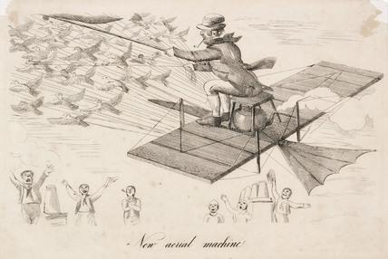 'New aerial Machine', late 19th century.
