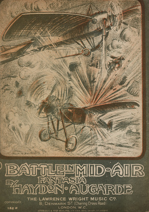 'Battle in Mid-Air', sheet music, 1914,