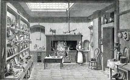 'The Kitchen', 1855.