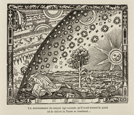 A medieval missionary finds the point where sky and earth touch, 1888.