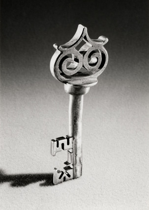 Wrought iron key, Flemish, 16th century.