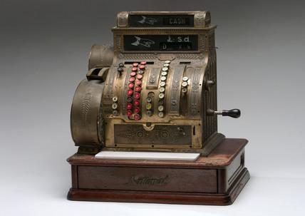 Mechanical cash register, c 1910.