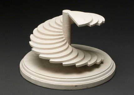 Plaster model of a surface generated by a semi-circle, 1876.