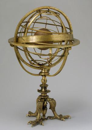 Armillary sphere by Caspar Vopel, 1554.