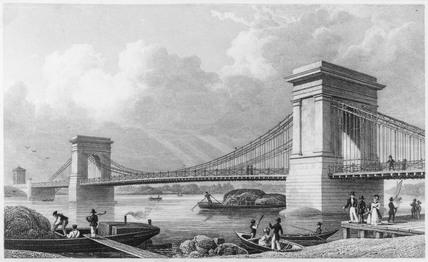 Hammersmith Bridge, London, 1828.