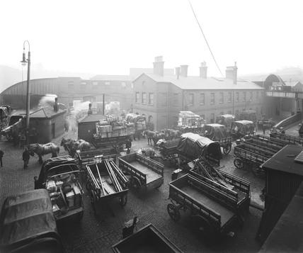 Goods yard, Paddington Station, London, c 1910.