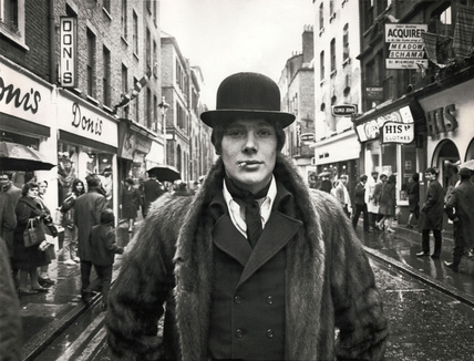 Carnaby Street dandy, London, 16 April 1968.