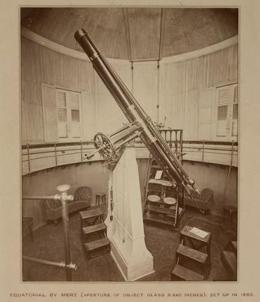 Equatorial telescope, Palermo, Sicily, Italy, 1865.