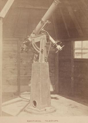 Transit of Venus telescope, 1876.