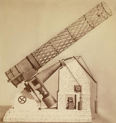 Model of the Great Melbourne telescope, Australia, 1876.