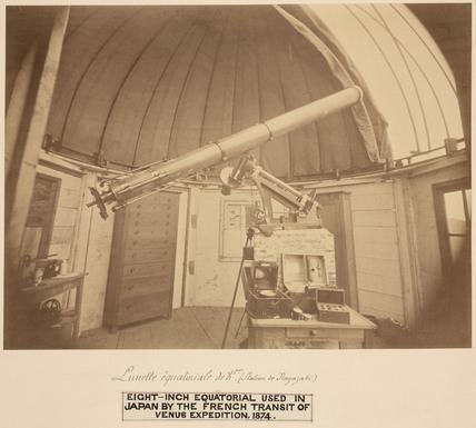 Transit of Venus telescope, 1874.