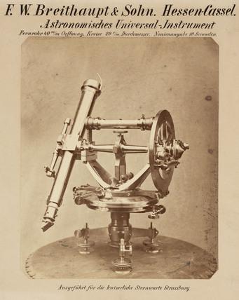 Universal circle, Strasbourg Observatory, 1876.