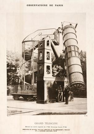 Reflecting telescope, Paris Observatory, 1884.