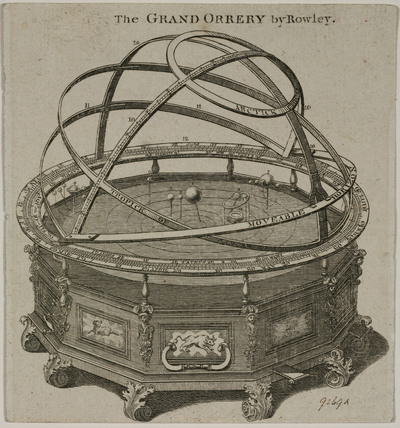 'The Grand Orrery by Rowley', London, 1715-1728.