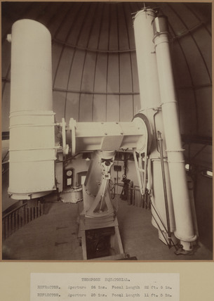 Thompson photographic telescopes, Greenwich, London, 1904-1914.