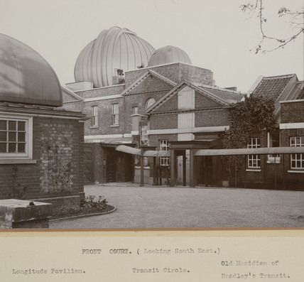 The Prime Meridian at the Royal Observatory, Greenwich, London, 1914.