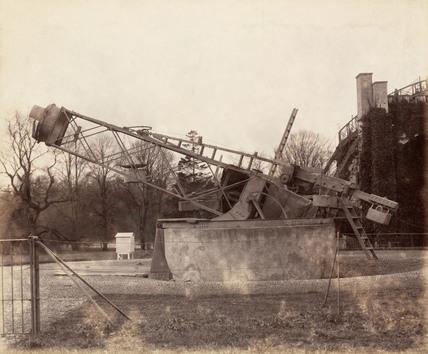 Three foot Rosse telescope, Birr Castle, Ireland, 1880.