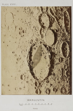 Lunar crater model 'Wargentin', 1850-1871.
