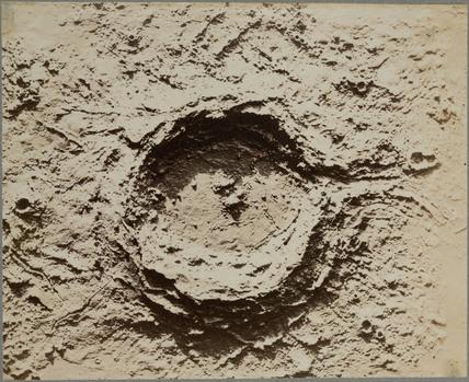 Lunar crater model, 1850-1871.