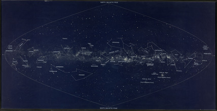 Lunkmark Milky Way map, c 1930s.
