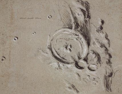 Lunar crater 'Gassendi', 1840-1860.