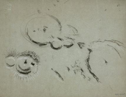 Lunar crater, 'Gassendi', 1840-1860.