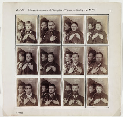 Photographs of prisoners, c 1880.