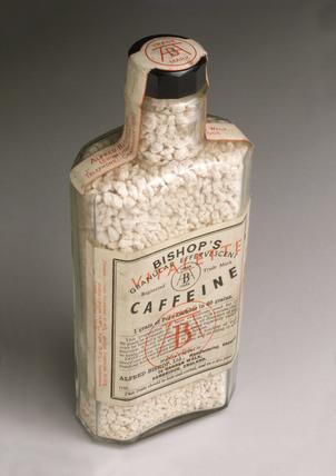 Bottle of effervescent caffeine, 1925-1960.