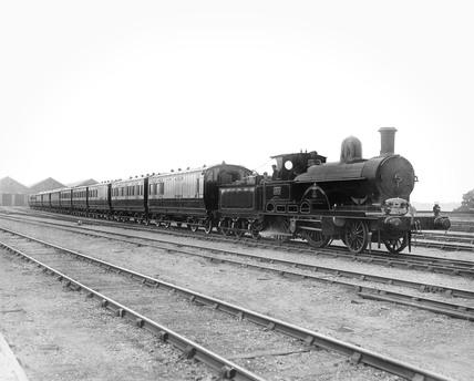 The 'Jeanie Deans' steam locomotive, Buckinghamshire, 29 June 1893.