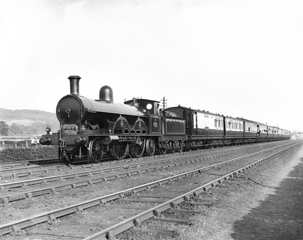 'Queen Empress' steam locomotive, Whitmore, Staffordshire, 24 June 1895.