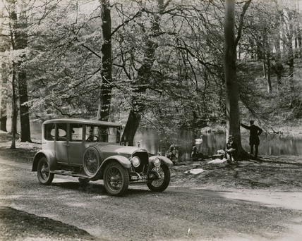 Napier saloon in woodland scene front view