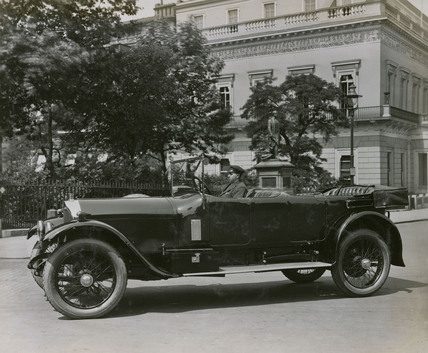 Napier 6 cylinder Cunard open tourer outside Athenaeum club, London