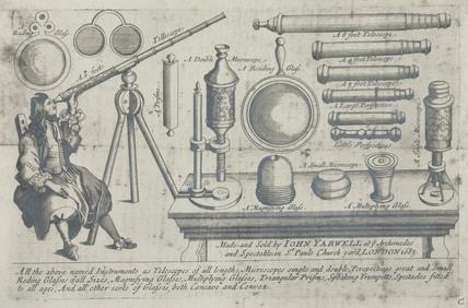 Trade card for John Yarwell, St Paul's Church Yard, London, 1683.