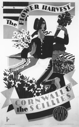 'The Flower Harvest', GWR poster, c 1930s.