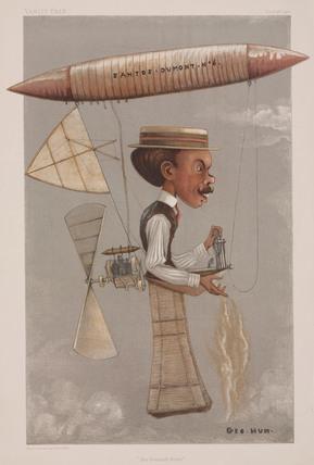 Alberto Santos-Dumont, Brazilian aviator, 1901.