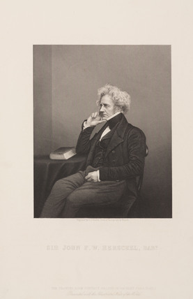 Sir John Herschel, English astronomer and scientist, c 1860.