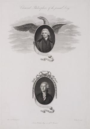 Joseph Priestley and Antoine Lavoisier, late 18th century.
