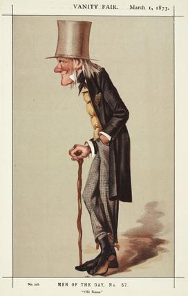 Sir Richard Owen, English naturalist and paleontologist, 1873.