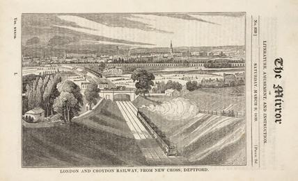'London & Croydon Railway, from New Cross, Deptford', London, 1839.