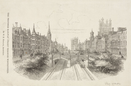'The Proposed Railway Street through Westminster', 19th century.