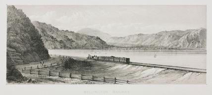 Wellington Railway, New Zealand, c 1865.